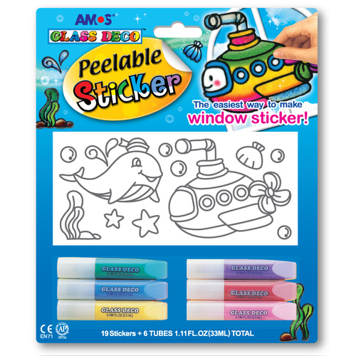 Peelable Sticker - 19 stickers