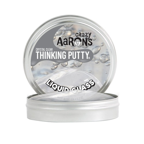 "Liquid Glass | Crystal Clear Thinking Putty 4"" tin"