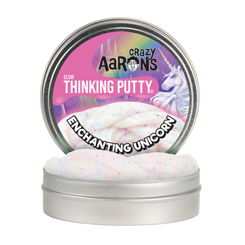 "Enchanting Unicorn | Glow Thinking Putty 4"" Tin"