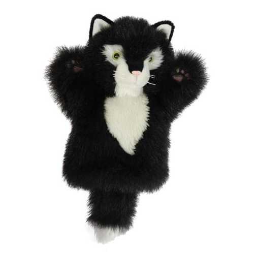 Cat Black & White - Hand Puppet