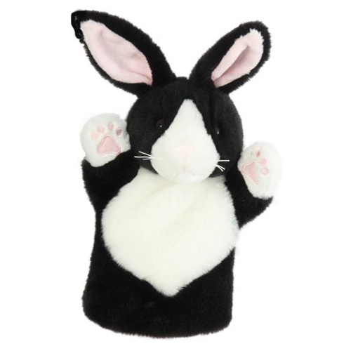 Rabbit Black & White - Hand Puppet
